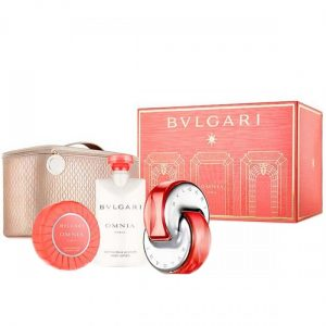 Bvlgari Omnia Coral (đỏ) (EDT 65ML+Scented Soap 75g+Body Lotion 75ML+Pouch)
