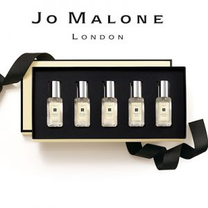 Jo Malone 5 mini 9ml x 5 (lime basil + nectarine blossom + englishpear + mimosa + wood sage)