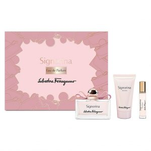 Set Salvatore Ferragamo Signorina (EDP 100ml, Mini 10ml, Bodylotion 50ml)