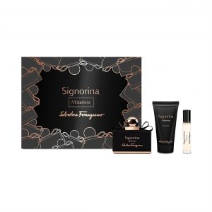 Set Salvatore Ferragamo Signorina Misteriosa (EDP 100ml, Mini 10ml, Bodylotion 50ml)