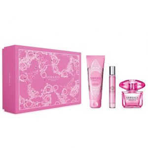 Set Versace Bright Crystal Absolu (EDP 90ml + Mini 10ml + 150ml Bodylotion)