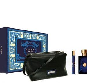 Set Versace Blue Dylan Pour Homme (EDT 100ml, Mini 10ml, Túi)