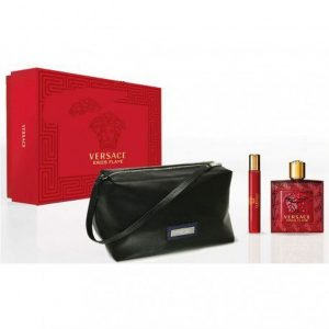 Set Versace Eros Flame (EDP 100ml, Mini 10ml, Túi) - nam