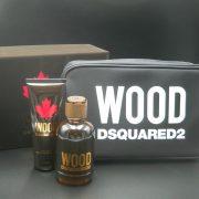 Set Dsquared2 Wood Pour Homme (EDT 100ml, showergel 100ml, Túi) - nam 3