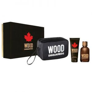 Set Dsquared2 Wood Pour Homme (EDT 100ml, showergel 100ml, Túi) - nam