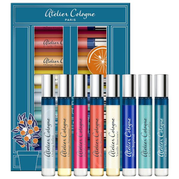 Set Atelier Cologne 8 mini x 4ml (Pacific Lime, Pomelo Paradis, Vanille Insensee, Orange Sanguine, Oolang Infini, Clementine California, Musc Imperial, Cedre Atlas)