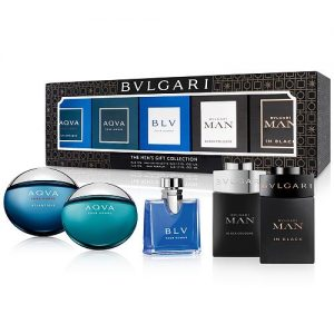 Set Bvlgari nam 5 Mini x 5ml (Aqva, Aqva atlantiqve, Bvl pour homme, Man in black, Man black cologne) - nam