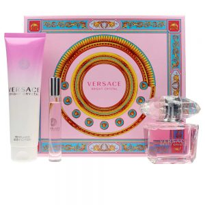 Set Versace Bright Crystal (EDT 90ml, Mini 10ml, Bodylotion 150ml) - nữ