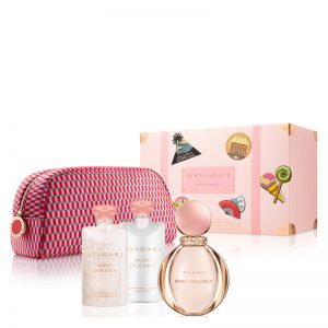 Set Bvlgari Rose Goldea (EDP 90ml, Bodylotion 75ml, Showergel 75ml, Pouch) - nữ