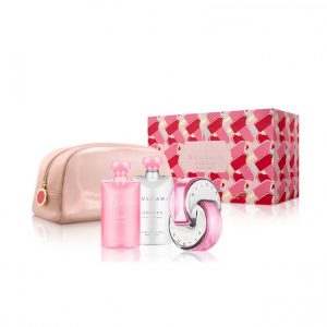 Set Bvlgari Omnia Pink Sapphire (Edt 65ml, Bodylotion 75ml, Showergel 75ml, Pouch) - nữ
