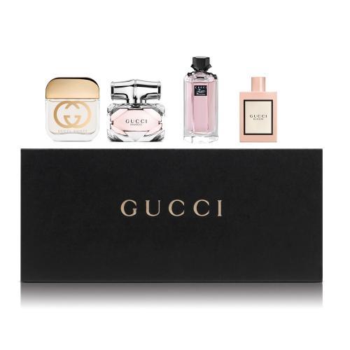 Set Gucci Women 4 Mini x 5ml (Bamboo edp, Gorgeous Gardenia, Guilty edt, Bloom edp)